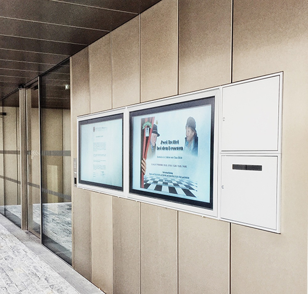 digital signage semi outdoor